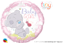 'Baby Girl' Tiny Tatty Teddy Foil Balloon